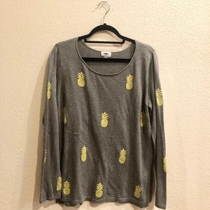 Old Navy Grey Pineapple Sweater
